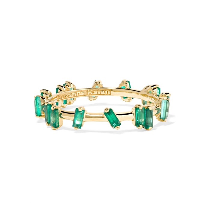 """***Colour Of My Love***<br><br> Ring by Suzanne Kalan, $2,575 at [NET-A-PORTER](https://www.net-a-porter.com/au/en/product/1141426/Suzanne_Kalan/18-karat-gold-emerald-ring
