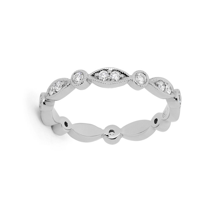 """***Embellished***<br><br> Ring by [Matthew Ely](http://www.matthewely.com.au/products/fancy-shape-millgrain-diamond-set-wedding-ring-2/2291/?terms=40