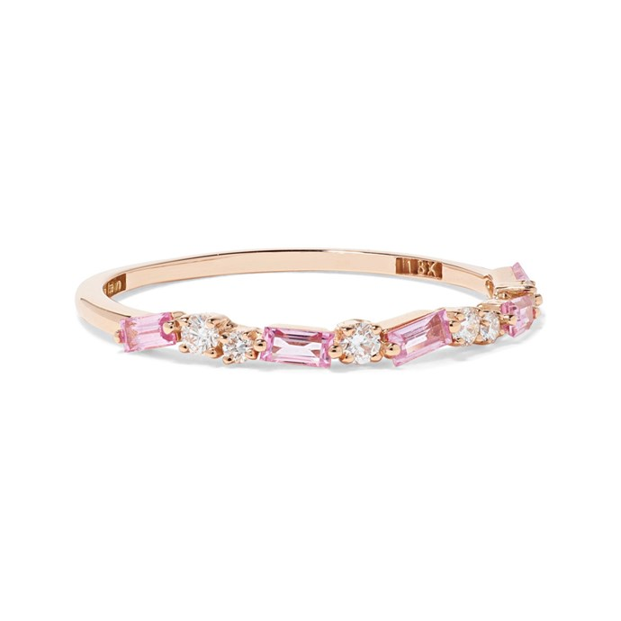 """***Embellished***<br><br> Ring by Suzanne Kalan, $1,467 at [NET-A-PORTER](https://www.net-a-porter.com/au/en/product/1150856/suzanne_kalan/18-karat-rose-gold--diamond-and-sapphire-ring