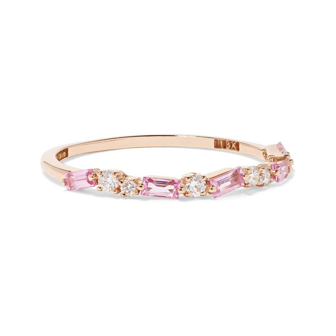 "***Embellished***<br><br> Ring by Suzanne Kalan, $1,467 at [NET-A-PORTER](https://www.net-a-porter.com/au/en/product/1150856/suzanne_kalan/18-karat-rose-gold--diamond-and-sapphire-ring|target=""_blank""