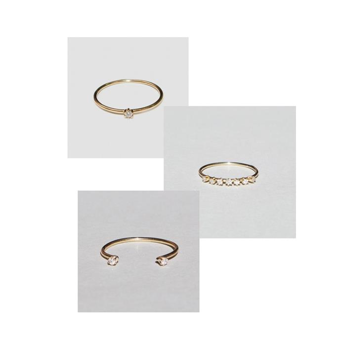 "***Stacked Up***<br><br> Rings ([top](https://www.saskia-diez.com/store/women/rings/mini-wire-solitaire-ring/|target=""_blank""