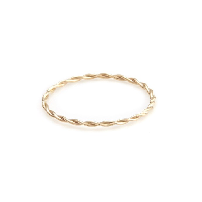 """***Barely-There***<br><Br> Ring, $120 by [Sarah and Sebastian](https://www.sarahandsebastian.com/products/twine-ring