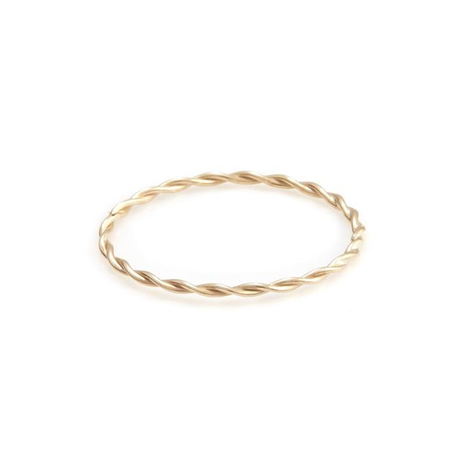 "***Barely-There***<br><Br> Ring, $120 by [Sarah and Sebastian](https://www.sarahandsebastian.com/products/twine-ring|target=""_blank""