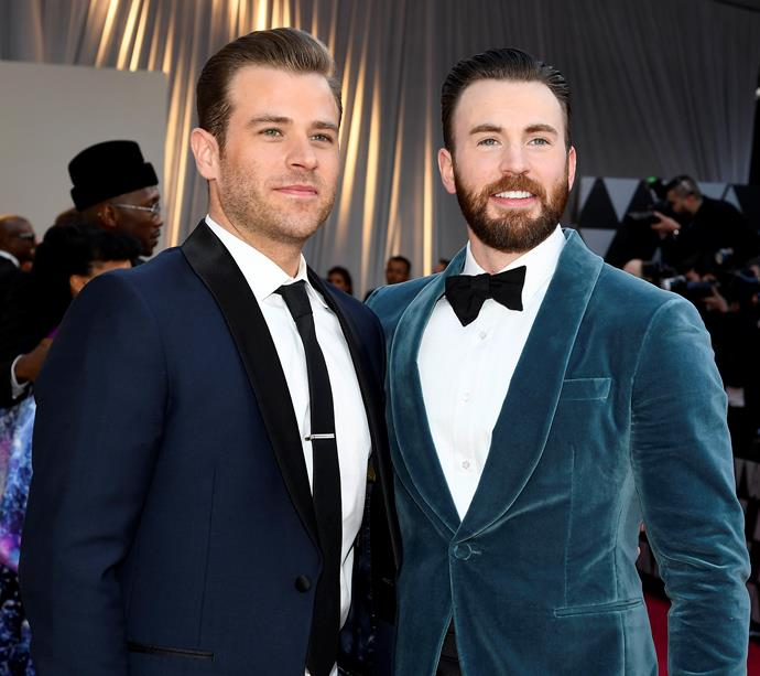 Scott and Chris Evans at the Academy Awards on February 24, 2019.