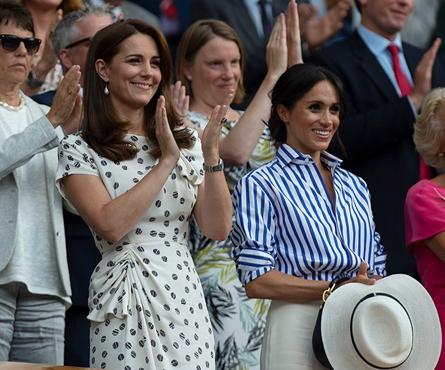 Love All: Kate Middleton and Meghan Markle at Wimbledon in 2018.