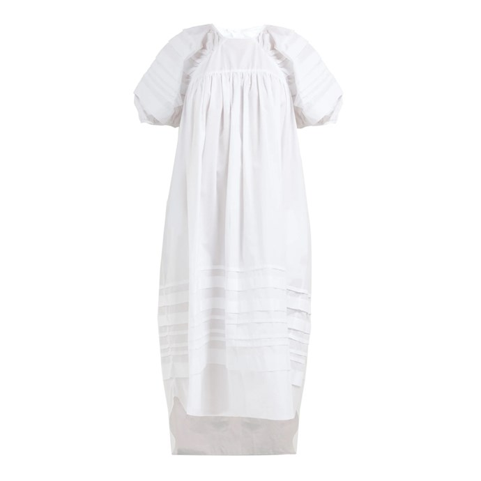 "**Buy:** Dress by Cecilie Bahnsen, $1,724 at [MATCHESFASHION.COM](https://www.matchesfashion.com/au/products/Cecilie-Bahnsen-Penelope-puff-sleeve-cotton-dress-1270077|target=""_blank""