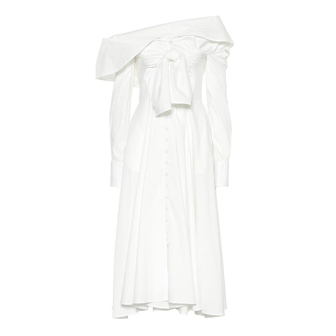 "**Buy:** Dress by Rosie Assoulin, $861 at [My Theresa](https://www.mytheresa.com/en-au/rosie-assoulin-booby-trap-stretch-cotton-dress-1066510.html|target=""_blank""