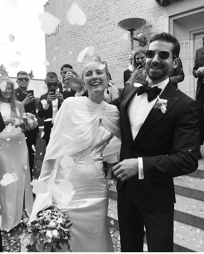 **Self-Portrait** <br><br> When Scandi super-stylist Alexandra Carl wore a custom Self-Portrait dress-and-cape to marry Jacob John Harmer last year, the fashion world found a renewed interest in Self-Portrait's super-feminine bridal line.