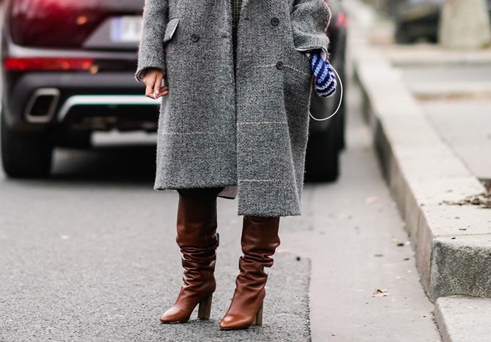 """**TALL, SLOUCHY BOOTS** <br><br> """"Personally, I think a thigh-high or a good 80s-style slouchy boot is so chic paired with a mini dress or a skinny pair of jeans,"""" Gerona says."""