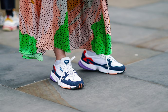 """**ADVENTURE SNEAKERS** <br><br> """"I feel as though sneakers are becoming more adventure-inspired, meaning they have possibly gotten 'uglier' and therefore more dad-appropriate,"""" Wong says. Her top pick are [these](https://www.net-a-porter.com/au/en/product/1095558/adidas_originals/temper-run-mesh--suede-and-leather-sneakers
