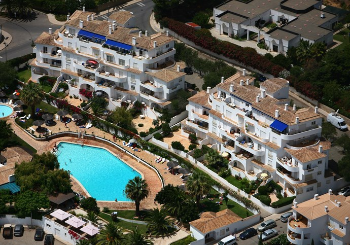 The resort at Praia da Luz, where the McCanns were staying.