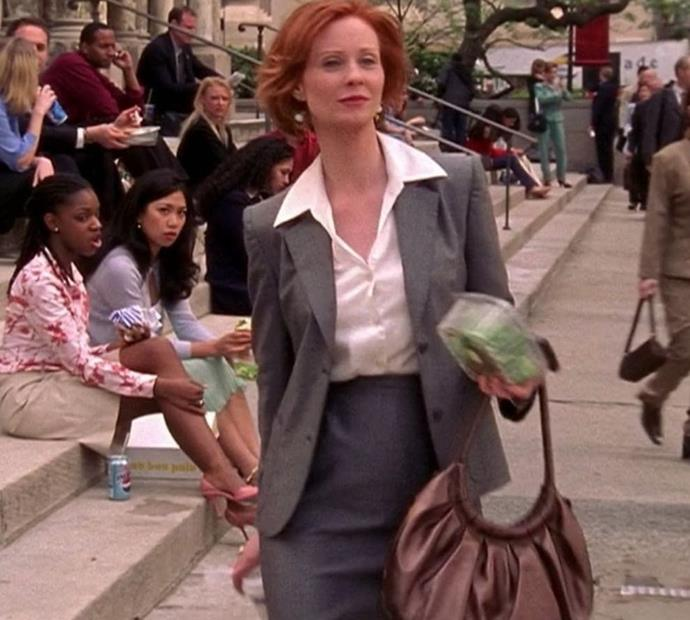 The corporate suit, but with a fitted pencil skirt...