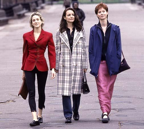 Miranda even experienced a brief flirtation with—ehrm—*very* '90s activewear.