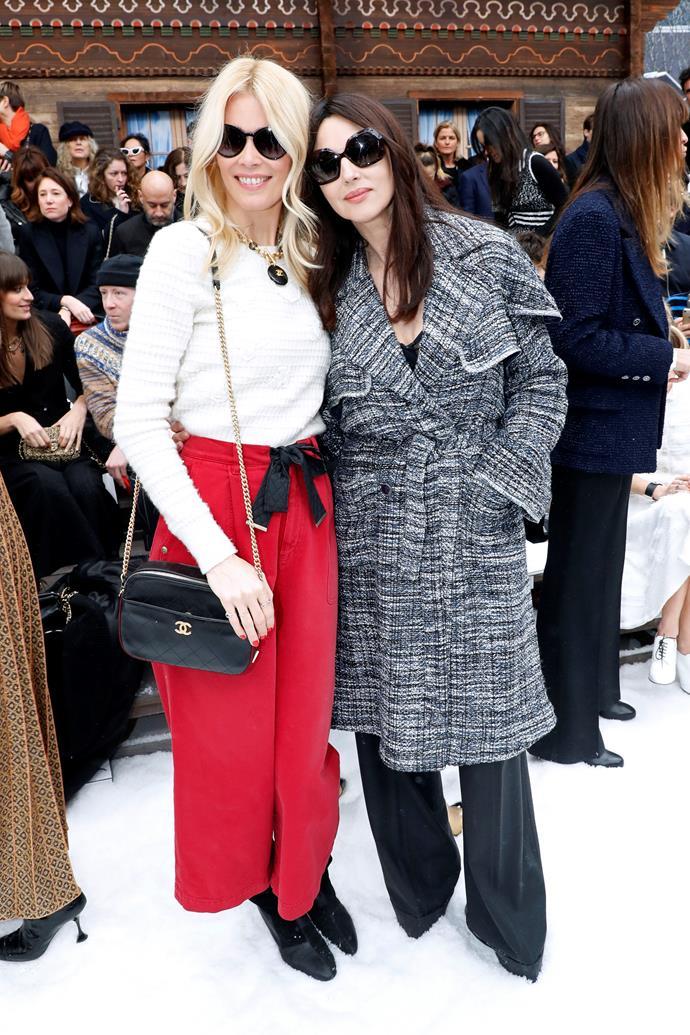 Claudia Schiffer and Monica Bellucci.