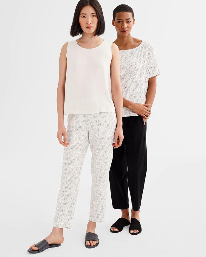 "***Eileen Fisher***<br><br> From the 8th to the 10th, Eileen Fisher will donate 100% of proceeds from their '[Morse Code](https://www.eileenfisher.com/catalogsearch/result/?q=morse|target=""_blank""