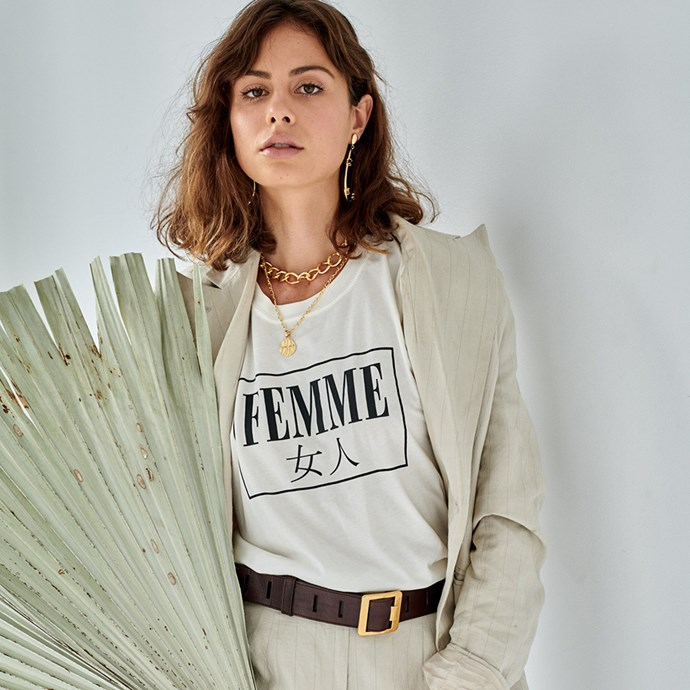 """***F+H Jewellery***<br><Br> F+H Jewellery will be donating 10% of all sales of 2019's [The Femme Collection](https://www.fandhjewellery.com/collections/femme-collection target=""""_blank"""" rel=""""nofollow"""") to the [SHIFT Project](https://shiftproject.org.au/ target=""""_blank"""" rel=""""nofollow"""") and have also launched a brand new cotton 'Femme' tee."""