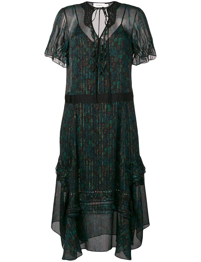 "Embellished Floral Dress by [Coach](https://coachaustralia.com/store-locator?utm_source=elle&utm_medium=article&utm_campaign=sarah-ellen-elle&utm_content=store-locator|target=""_blank""