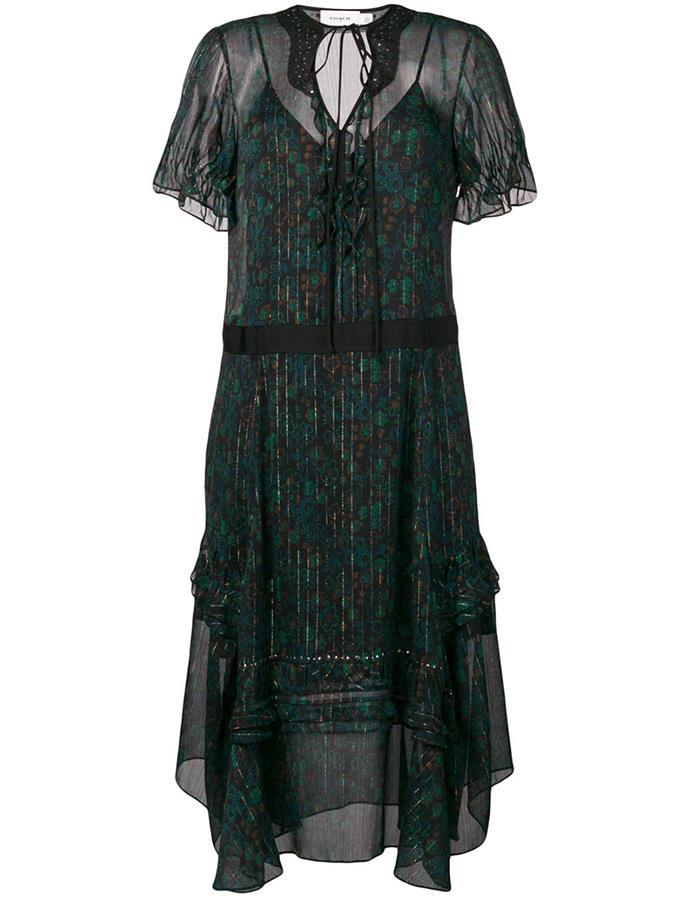 "Embellished Floral Dress by [Coach](https://coachaustralia.com/store-locator?utm_source=elle&utm_medium=article&utm_campaign=sarah-ellen-elle&utm_content=store-locator target=""_blank"" rel=""nofollow""), $950"