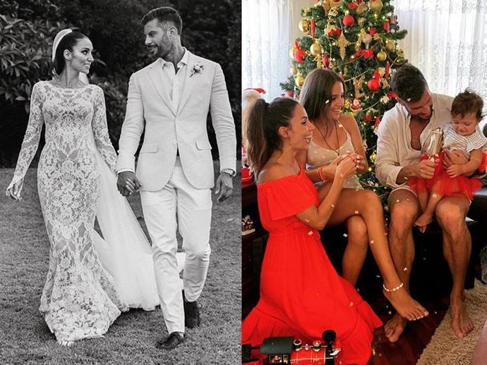 **Snezana Wood (née Markoski) and Sam Wood from *The Bachelor* season 3** <br><br> After fitness entrepreneur Wood won Markoski's heart in 2015 on the third season of *The Bachelor*, they've gone on to become one of Australia's most endearing reality TV couples. <br><br> The two wed in early February 2019, but not before welcoming a daughter together, Willow (Sam's first child, and Snezana's second after her daughter, Eve), and are currently expecting their second child.