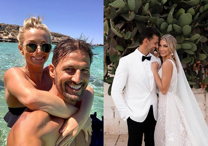 **Anna Heinrich and Tim Robards from *The Bachelor* season 1** <br><br> It feels like a million years ago that Heinrich and Robards met on the inaugural season of *The Bachelor* in 2013—but the genetically-blessed couple are still together, and appear to be happier than ever. <br><br> Despite dodging marriage rumours for years, the couple wed in Italy in June 2018, proving their relationship has undeniably stood the test of time.
