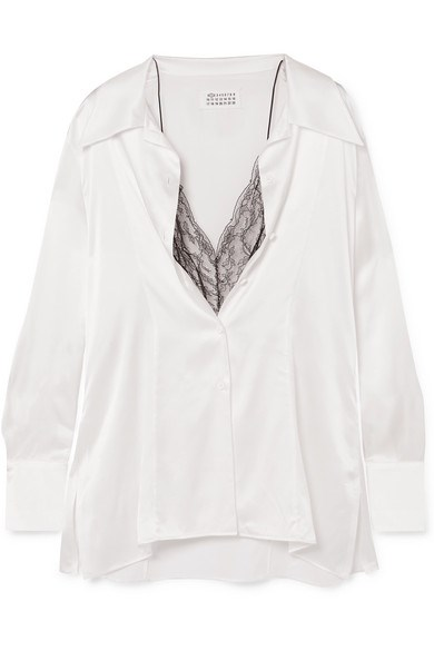 "**Buy:** Silk blouse by Maison Margiela, $1,272.98 at [Net-A-Porter](https://www.net-a-porter.com/au/en/product/1116470/maison_margiela/lace-trimmed-silk-satin-blouse|target=""_blank""