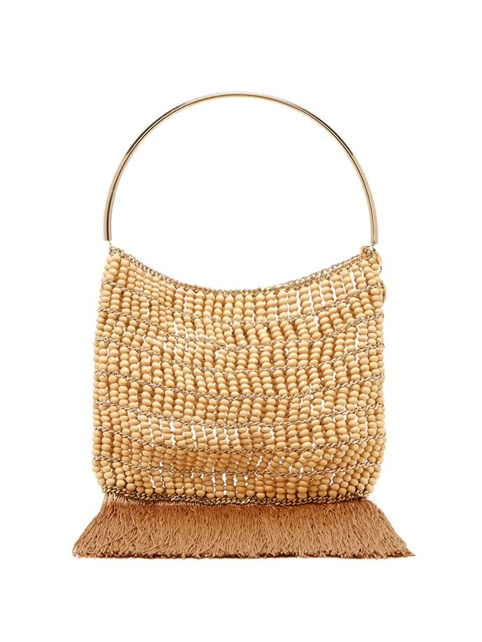 "**Buy:** Fringe-trimmed bag by Rosantica by Michela Panero, $677 at [MATCHESFASHION](https://www.matchesfashion.com/au/products/Rosantica-By-Michela-Panero-Georgina-beaded-fringe-trimmed-bag-1259197|target=""_blank""