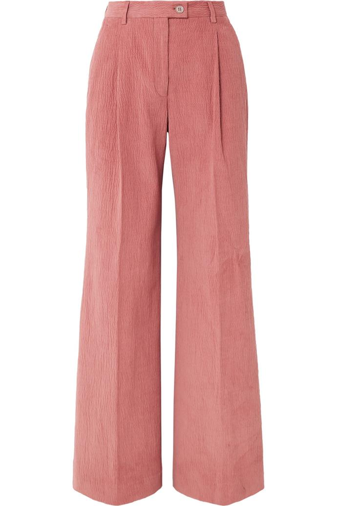 "**Buy:** Corduroy wide-leg pants by Acne Studios, $580 at [Net-A-Porter](https://www.net-a-porter.com/au/en/product/1109395?|target=""_blank""