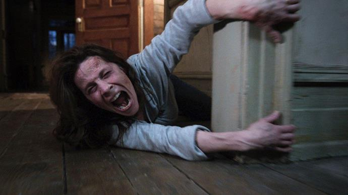 "***The Conjuring*** <br><br> ""Based on true events, this spine-chiller tells the story of a New England family who begins having encounters with spirits in their farmhouse."""
