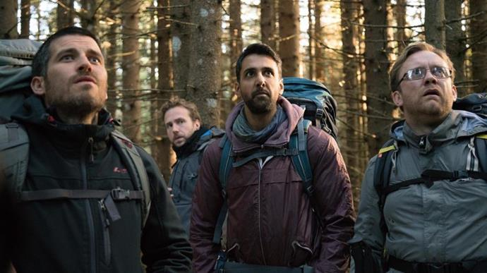 "***The Ritual*** <br><br> Four friends with a long-standing—but strained—connection take a hiking trip into the Swedish wilderness, from which they may never return. <br><br> *Watch it [here](https://www.netflix.com/title/80217312|target=""_blank""