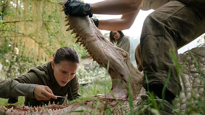 "***Annihilation*** <br><br> When her husband vanishes during a secret mission, biologist Lena joins an expedition into a mysterious region sealed off by the U.S. government. <br><br> *Watch it [here](https://www.netflix.com/au/title/80206300|target=""_blank""