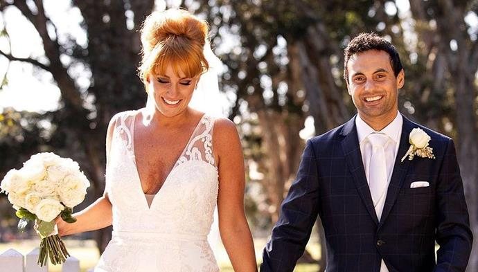 """**Jules and Cameron: A strong chance** <br><br> """"Both ambitious, both invested in their careers, both positive,"""" Otten says. """"You could see at their wedding that they were there for the right reasons. Body language was positive from the start, with both smiling, leaning in and touching each other affectionately. They were invested in finding love and threw their trust to the judges willingly, both extremely happy with the choices made on their behalf."""""""