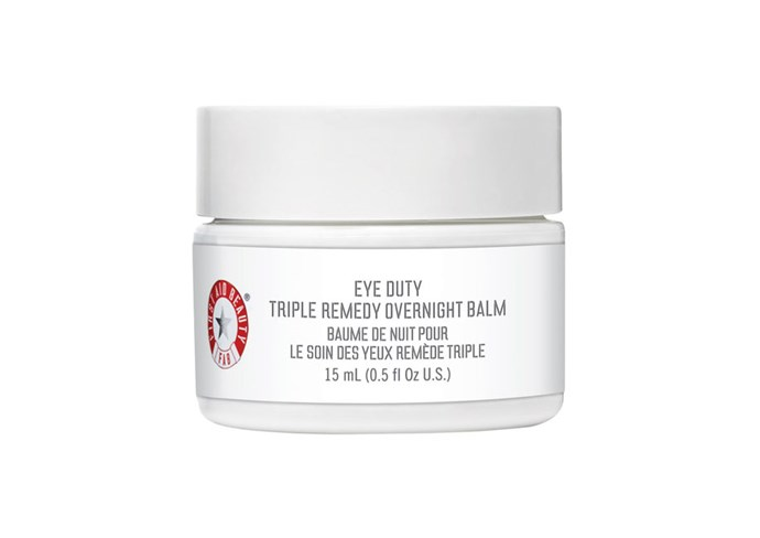 """First Aid Beauty Eye Duty Triple Remedy Overnight Balm, $60 at [Sephora](https://www.sephora.com.au/products/first-aid-beauty-eye-duty-triple-remedy-overnight-balm/v/default-14555