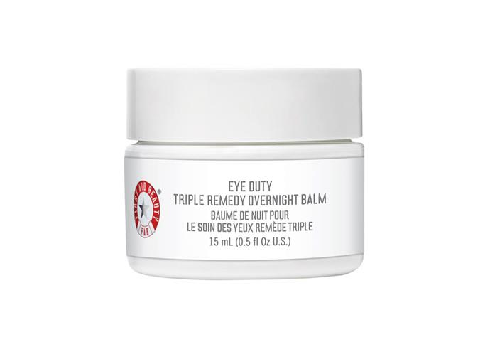 "**First Aid Beauty Eye Duty Triple Remedy Overnight Balm, $60 at [Sephora](https://www.sephora.com.au/products/first-aid-beauty-eye-duty-triple-remedy-overnight-balm/v/default-14555|target=""_blank""