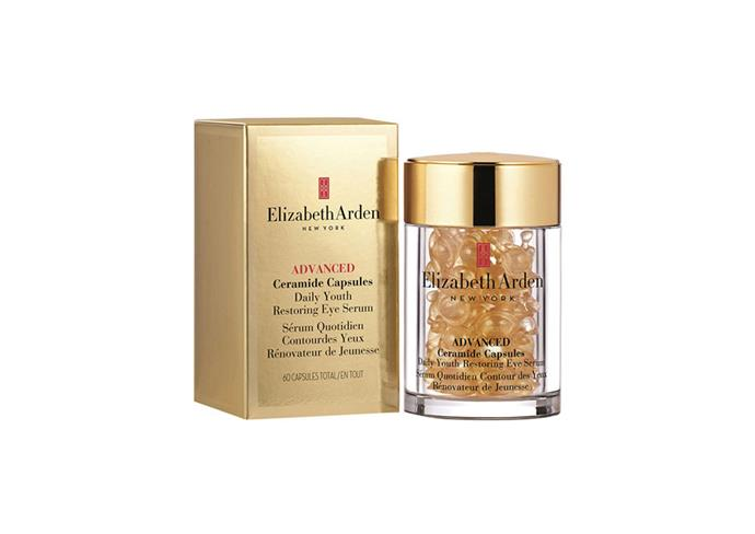 "**Ceramide Capsules Daily Youth Restoring Eye Serum, $115 at [Myer](https://www.myer.com.au/p/elizabeth-arden-advanced-ceramide-capsules-daily-youth-restoring-eye-serum-60-piece|target=""_blank""