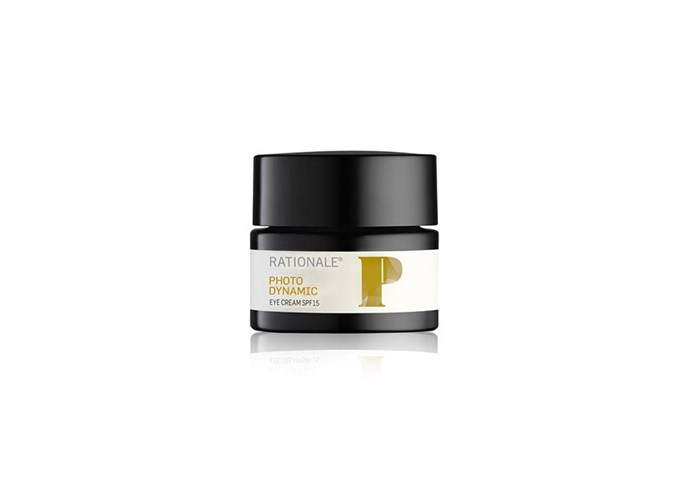 """Photo Dynamic Eye Cream SPF15, $140 at [Rationale](https://www.rationale.com/products/photodynamic-eye-cream-spf15