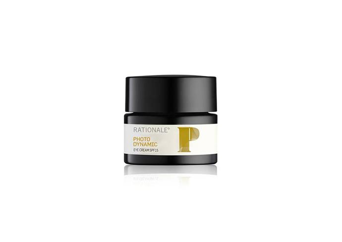"**Photo Dynamic Eye Cream SPF15, $140 at [Rationale](https://www.rationale.com/products/photodynamic-eye-cream-spf15|target=""_blank""