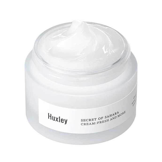 """***Huxley Cream: Fresh And More***<bR><br> With a hero ingredient of Sahara Cactus seed oil, you know this cream will keep your skin hydrated even in the driest conditions. That's not to say it's an overwhelming texture; it quickly absorbs into the skin without leaving any greasy residue.<bR><br> Moisturiser by Huxley, $65 at [Nudie Glow](https://nudieglow.com/collections/huxley-australia/products/huxley-cream-fresh-and-more