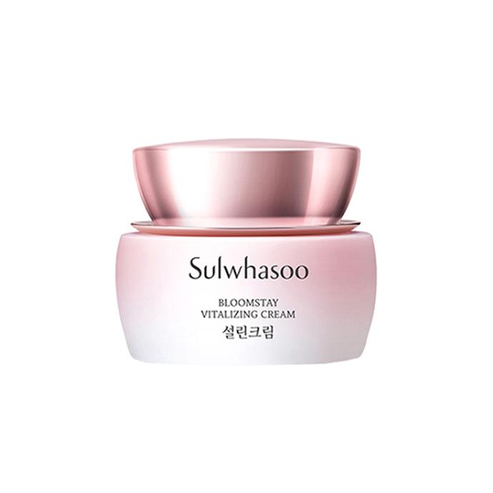 """***Sulwhasoo Bloomstay Vitalizing Cream***<br><br> This cream uses the anti-oxidant properties of plum blossom, yuzu, and orange, helping to rid your skin of congestion over time. <br><br> Moisturiser by Sulwhasoo, $195.44 at [YesStyle](https://www.yesstyle.com/en/tcuc.AUD/info.html/pid.1065766170 target=""""_blank"""" rel=""""nofollow"""")."""