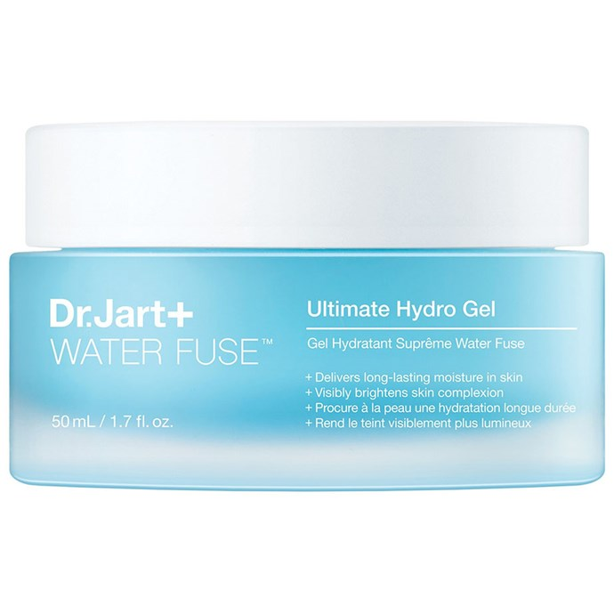 """***Dr. Jart+ Waterfuse Ultimate Hydro Gel Moisturiser***<bR><br> A brand that's famous for their face masks, now Dr. Jart+ imparts their technology into a jar as bright as the skin it promises to deliver.<bR><br> Moisturiser by Dr. Jart, $63 at [Sephora](https://www.sephora.com.au/products/dr-dot-jart-plus-water-fuse-ultimate-hydro-gel-moisturiser/v/default
