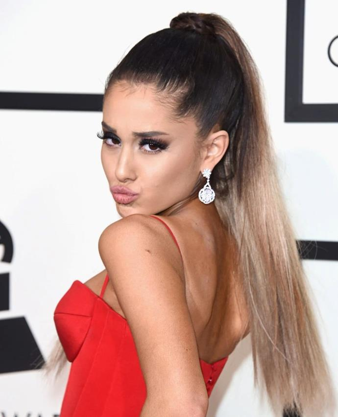 Grande is seen notably paler at the launch of her 'Dangerous Woman Diaries' docu-series in Nov 2018.