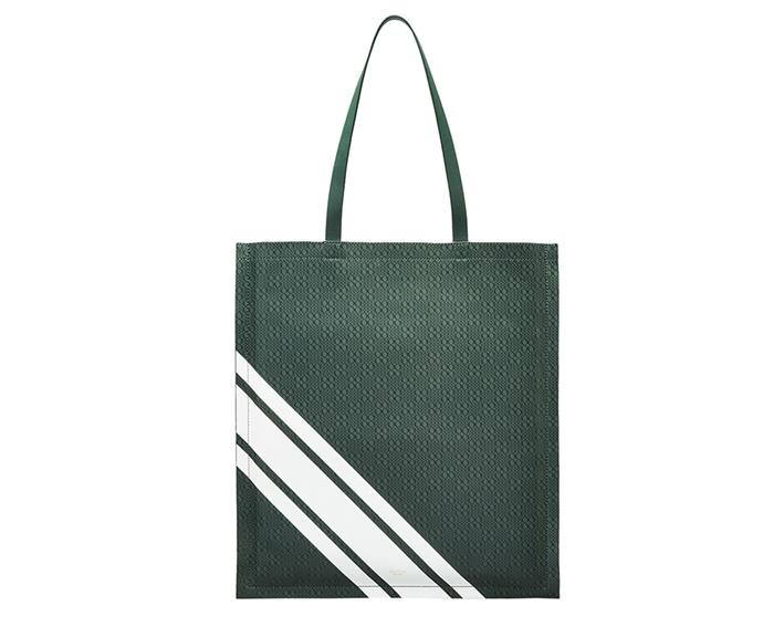"A chic carry-all that your mum can take from the gym to the supermarket and everywhere in between? This leather Oroton design ticks all the boxes. <br><br> Bag by [Oroton](https://www.oroton.com.au/venture-stripe-magazine-tote-bottle-green-osfa|target=""_blank""