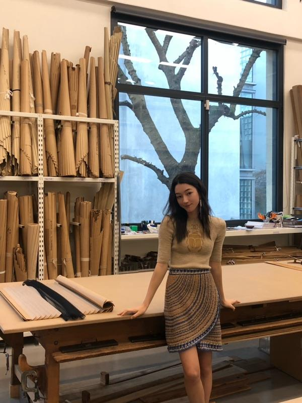 """""""A fascinating day getting to witness the Lognon ateliers hard at work! I got to help pleat some tulle for what will eventually be a CHANEL skirt!"""""""
