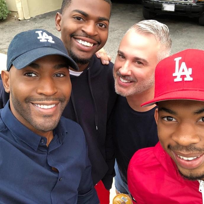 Here is **Karamo** with Ian, and his sons Chris and Jason.