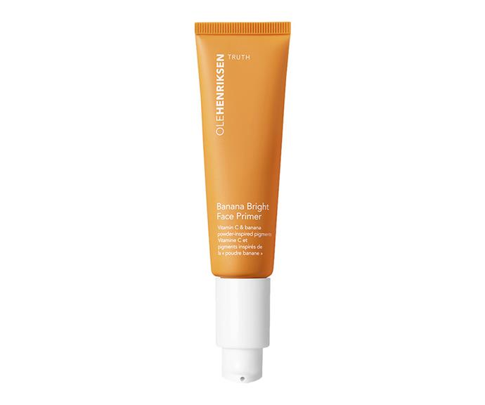 "Applied under makeup or worn alone, this Vitamin C-loaded primer smooths skin, improves the appearance of fine lines and boosts radiance with the banana powder-inspired pigments.  <br><br> Primer by Ole Henriksen, $48 at [Sephora](https://www.sephora.com.au/products/ole-henriksen-banana-bright-face-primer/v/default|target=""_blank""
