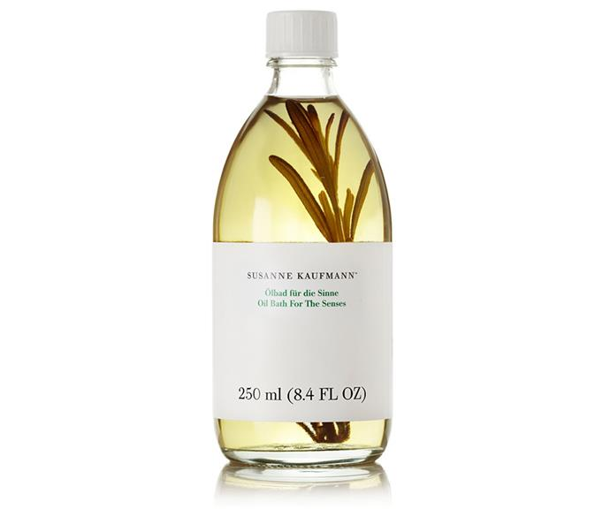 "Show your mum how much she means to you with a luxe bath oil she'd never purchase for herself. Enriched with Ylang-Ylang, Patchouli and Lavender, this blend by Susanne Kaufmann instantly calms and reinvigorates.  <br><br> Bath oil by Susanne Kaufmann, $86.63 at [Net-a-Porter](https://www.net-a-porter.com/au/en/product/463671/susanne_kaufmann/essential-bath-oil-for-the-senses--250ml|target=""_blank""