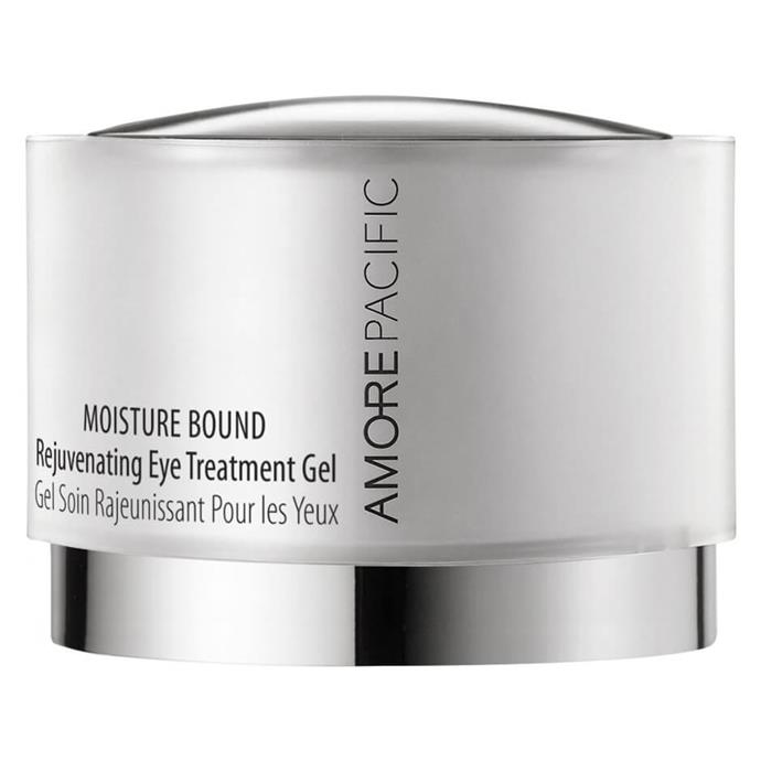 "**Amorepacific Moisture Bound Rejuvenating Eye Gel, $122 from [MECCA](https://www.mecca.com.au/amorepacific/moisture-bound-rejuvenating-eye-treatment-gel/I-033890.html|target=""_blank""