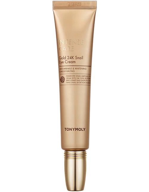 "**Tony Moly Intense Care 24k Gold Snail Eye Cream, $69 from [Myer](https://www.myer.com.au/p/tonymoly-tonymoly-intense-care-gold-24k-snail-eye-cream-30ml|target=""_blank""