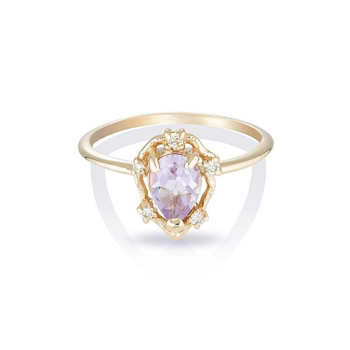 "***February: Amethyst*** <br><br> Amethyst and diamond ring, $480 by [HLSK](https://hlsk.com.au/collections/rings/products/peone-ii-pink-amethyst-diamonds|target=""_blank""