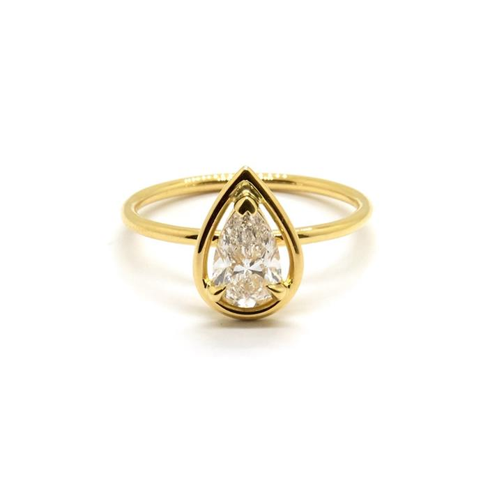 "***April: Diamond***<bR><br> Pear Solitaire ring, $9,260 at [Natalie Marie Jewellery](https://www.nataliemariejewellery.com/collections/engagement-rings/products/pear-diamond-halo-solitaire-0-70-carat-diamond|target=""_blank""