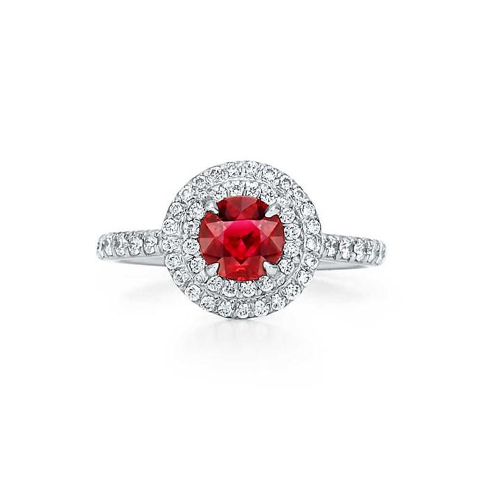 "***July: Ruby***<bR><br> Soleste ruby ring, $15,200 at [Tiffany & Co.](https://www.tiffany.com.au/jewelry/rings/tiffany-soleste-ring-GRP10215/|target=""_blank""|rel=""nofollow"")"